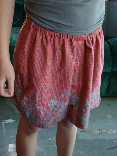 Boy shirt/skirt after